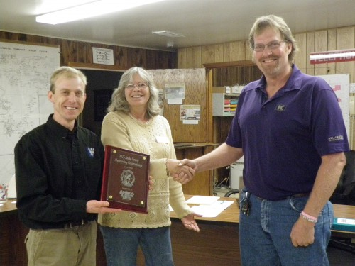 Jamie Schurbon (Water Specialist), Vici Nass (ACD Board Member) Bob Millerbernd (Linwood Township Board Member)