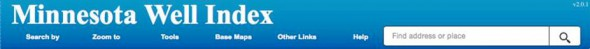 Minnesota Well Index (MDH website) Header