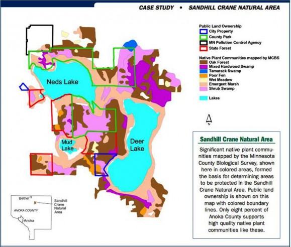 Sandhill Crane Natural Area Map